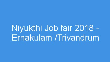 Niyukthi Job Fair 2018 Application