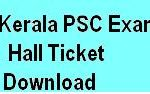 PSC Exam Hall tIcket