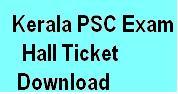 PSC Exam Hall tIcket