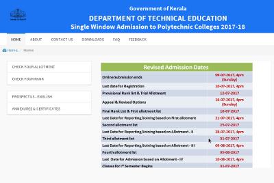 Polytechnic 2nd allotment list 2017
