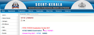 Scert Kerala NMMSE result