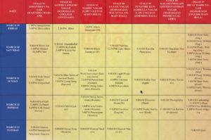 MG University Kalolsavam 2018 Schedule