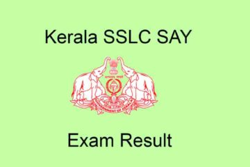 SSLC SAY Examination Result 2020
