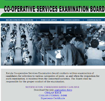 CSEB Kerala Notification 2018, Co-operative Bank Recruitment