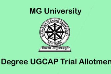 MG University Degree Trial Allotment - UGCAP Ranklist