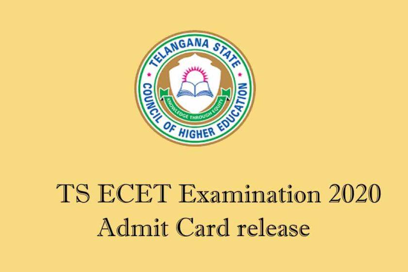 TS ECET Examination 2020 Admit Card details