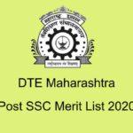 DTE Maharashtra SSC Merit List 2020