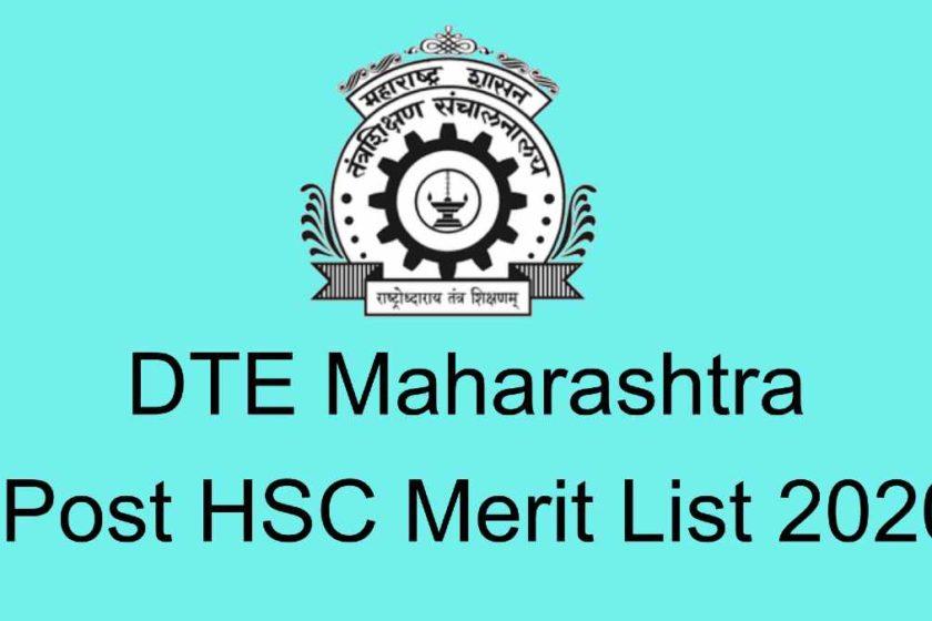 Maharashtra Diploma Post HSC Merit List 2020