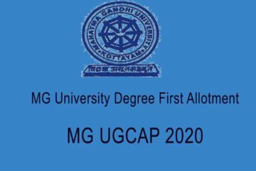 MG University Degree First Allotment 2020 - MGU UGCAP Allotment