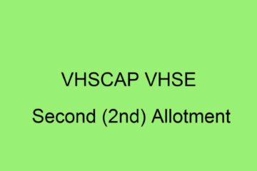 VHSCAP VHSE 2nd Allotment 2020