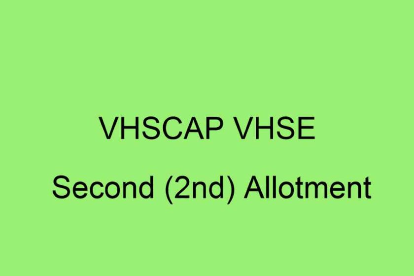 VHSCAP VHSE 2nd Allotment 2020