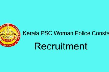 Kerala PSC Woman Constable Recruitent Notification
