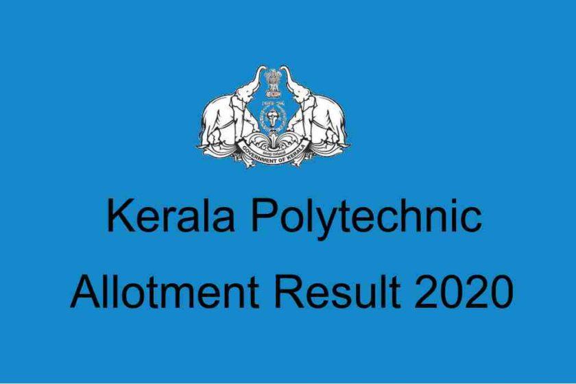 Kerala Polytechnic Allotment 2020