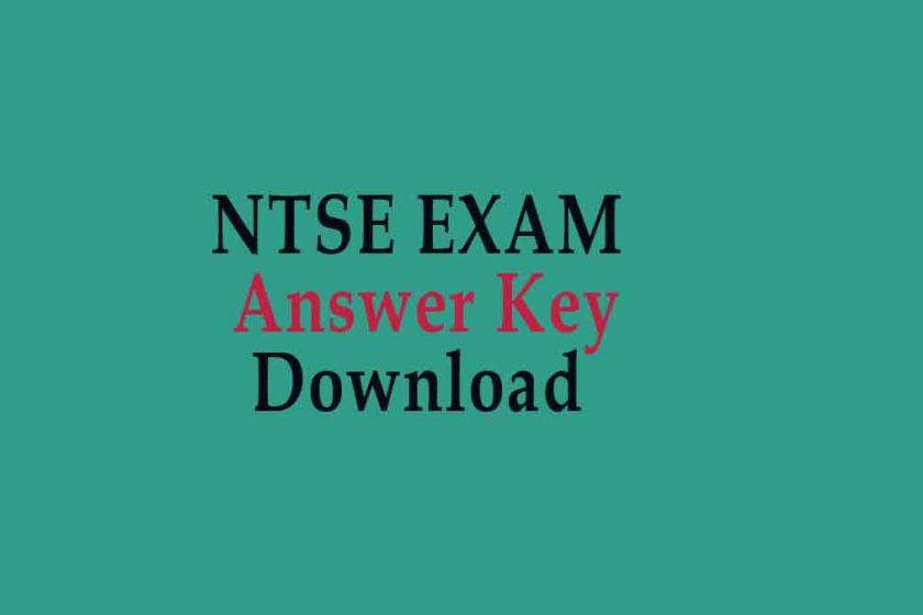 NTSE Exam answer Key Download