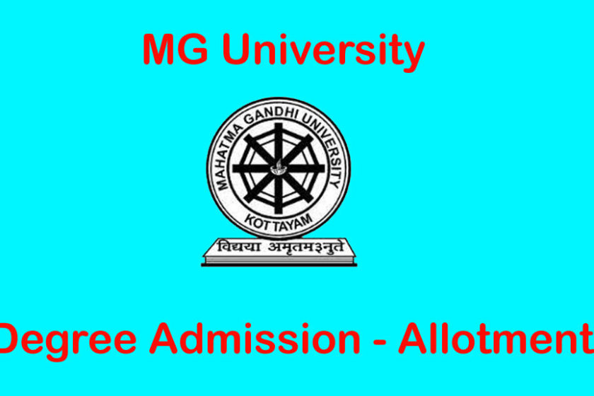 MG University Degree Admission Allotment
