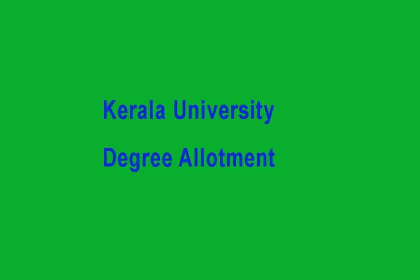 Kerala University UG Second Allotment