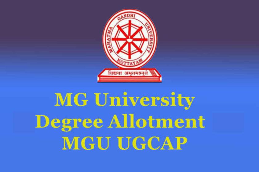 MG University Degree Allotment - UGCAP Allotment