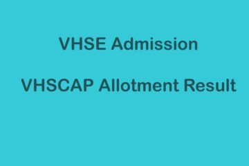 VHSE Allotment Result - VHSCAP Allotment
