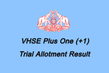 VHSE Trial Allotment - www.vhscap.kerala.gov.in Allotment