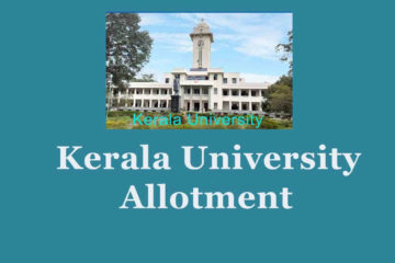 Kerala University B.Ed Allotment